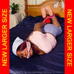 Black girl hogtied with bandanas