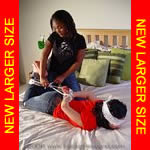 Black girl hogtied & tickled