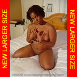 Black girl cuffed in the nude