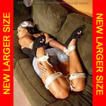 Black Girl Hogtied in Moccasins